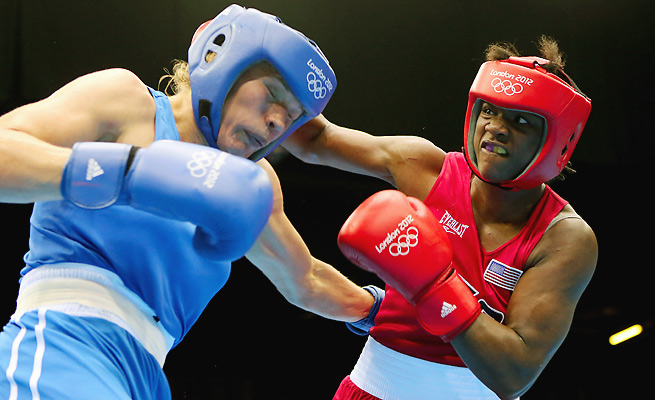 Claressa Shields defeated Nadezda Torlopova of Russia to the win the gold medal in women's middleweight boxing at the 2012 London Olympics.