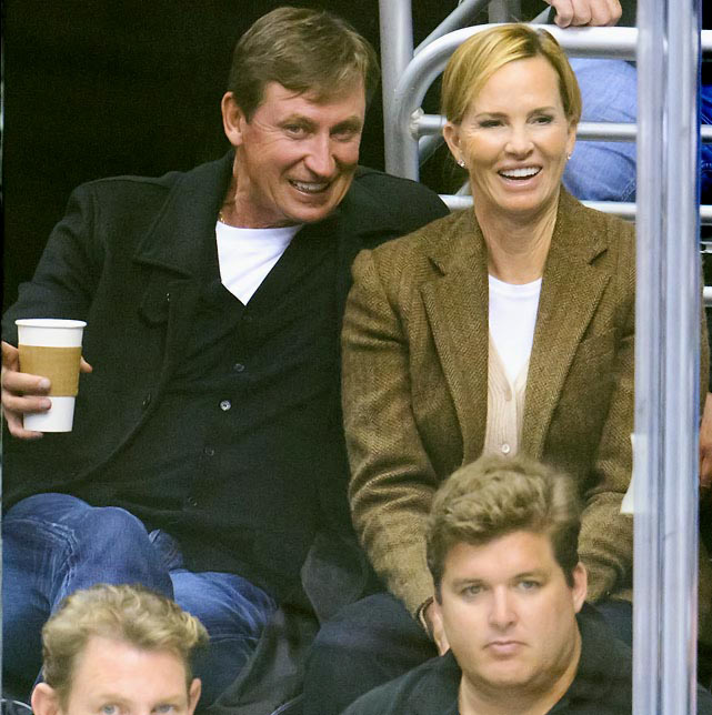 Wayne and Janet take in a Kings game against the Blues at Staples Center.