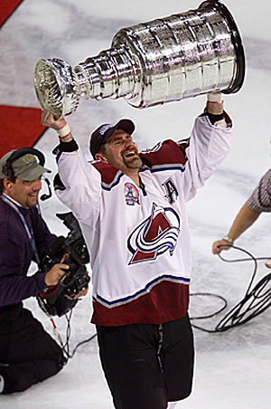 Boston icon Ray Bourque concluded his Hall of Fame career in grand style with Colorado.