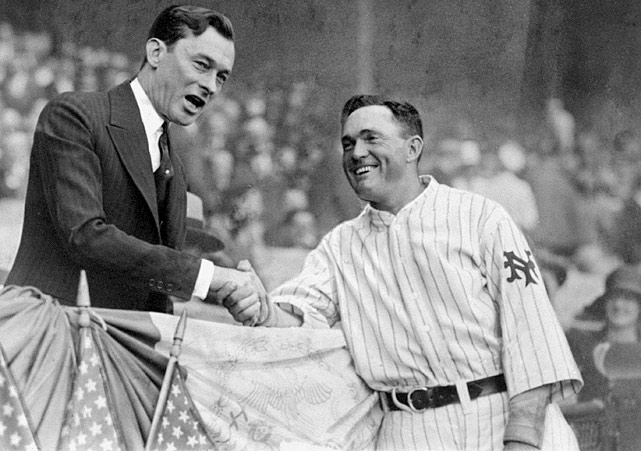 After helping the St. Louis Cardinals win their first World Series in 1926, second baseman Rogers Hornsby demanded a new contract worth $50,000 annually for three years. When Sam Breadon, the Cardinals owner, refused to give more than a one-year contract at that salary, he shipped his star player off to the New York Giants for Frankie Frisch and Jimmy Ring. Hornsby didn't last long in New York, spending just one season before he was traded again to the Boston Braves, who then sent him to the Chicago Cubs after a season. He won the 1929 MVP with the Cubs and finished his 23-year career with a .358 batting average. Frisch spent the rest of his career in St. Louis and won the MVP in 1931 as the Cardinals won another World Series.