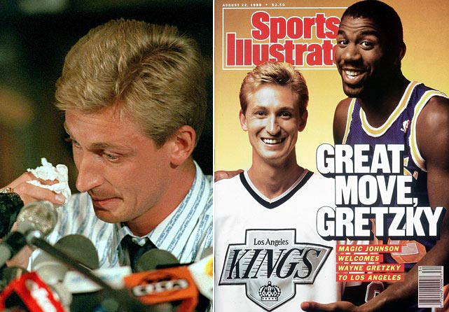 "25 years ago, the Los Angeles Kings pulled off a transaction so monumental that it is known simply as ""The Trade."" On Aug. 9, 1988, the Kings landed the ""The Great One"" along with Mike Krushelnyski and Marty McSorley from the Edmonton Oilers in exchange for Jimmy Carson, Martin Gelinas, Los Angeles' first-round picks in the 1989, 1991 and 1993 Entry Drafts and cash. Gretzky made 10 more All-Star Games and won a Hart Trophy and three Art Ross Trophies after the trade. To mark the anniversary of the trade, we've compiled other amazing trades of stars in the prime of their careers."