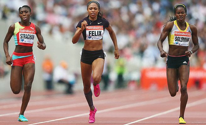 Allyson Felix is aiming for a fourpeat in the 200, but can she outrun Jamaica's Shelly-Ann Fraser-Pryce?