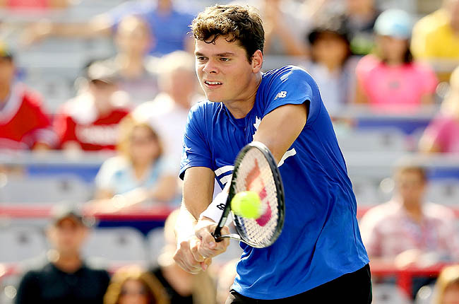 Raonic rode the support of the center court crowd for a 7-6 (2), 4-6, 6-4 victory over Ernests Gulbis.