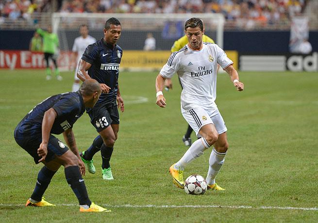 Cristiano Ronaldo (right) scored again for Real Madrid to cap a successful preseason run.