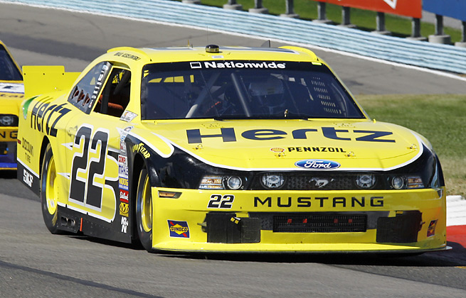Brad Keselowski led 49 laps en route to winning his first race at Watkins Glen, the Nationwide Zippo 200.