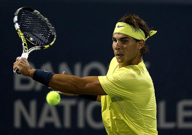 Rafael Nadal needed a third-set tiebreak to beat Novak Djokovic in their Rogers Cup semifinal.