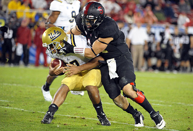 Linebacker Shayne Skov (right) and Stanford's defense ranked fifth nationally against the run last year.