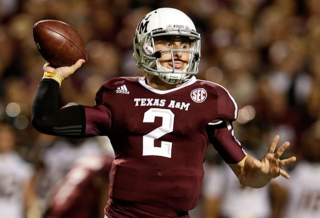Quarterback Johnny Manziel tallied 5,116 yards of total offense during his Heisman-winning '12 season.