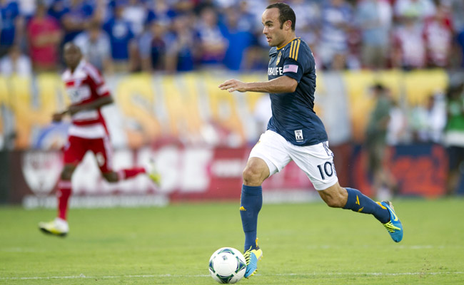 Landon Donovan scored a hat trick on Sunday against FC Dallas.