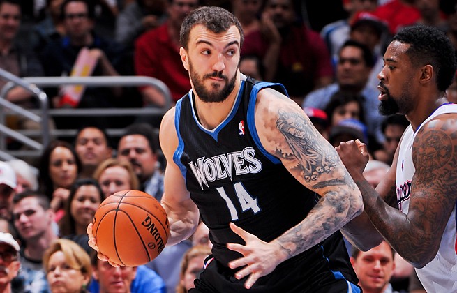 Nikola Pekovic averaged a career-high 16.3 ppg and 8.8 rpg last season for the Timberwolves.