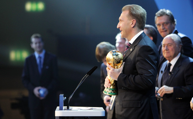 Russia was awarded the 2018 World Cup in December 2010.