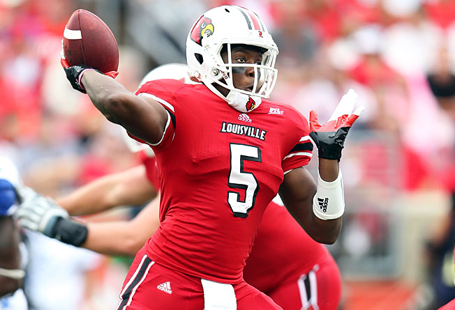 Quarterback Teddy Bridgewater threw for 3,718 yards and 27 TDs to lead Louisville to the BCS last year.