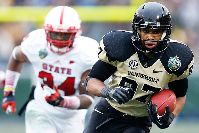Jordan Matthews led the SEC in 2012 with 94 catches and should be Vanderbilt's best weapon again.