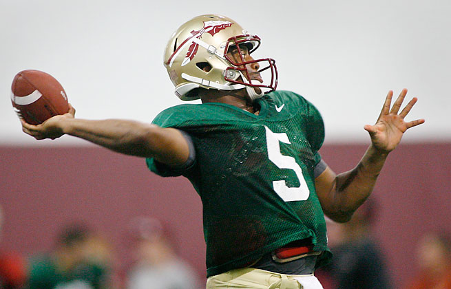 Florida State QB Jameis Winston will have the benefit of throwing behind an experienced offensive line.