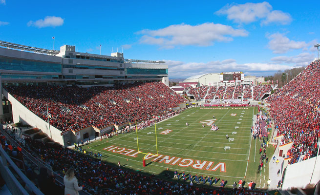 Virginia Tech's Lane Stadium will host Penn State in 2022. The teams will play in Happy Valley in 2023.