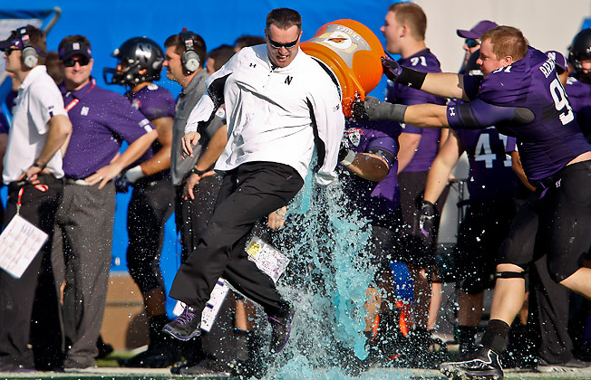 Pat Fitzgerald is adored at Northwestern, where he led the Wildcats to their first bowl win since 1949.