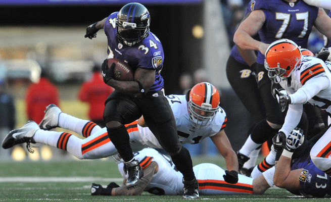 Ricky Williams was last on a football field as a member of the Baltimore Ravens in 2011.