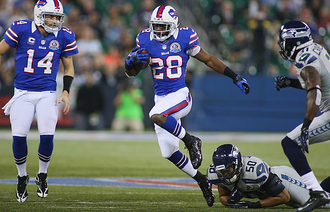 C.J. Spiller ran for a career-high 1,244 yards and six touchdowns for the Bills last season.