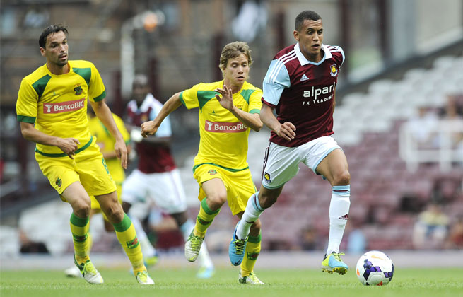 Ravel Morrison (right) is at West Ham this year after playing for Birmingham City last season.