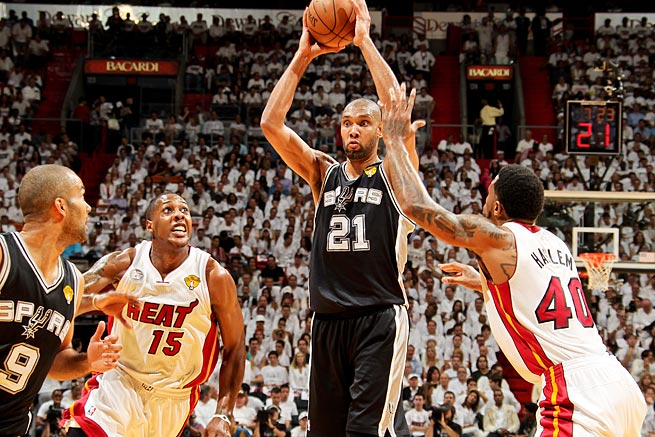 Tim Duncan and the Spurs came excruciatingly close to winning the championship last season.