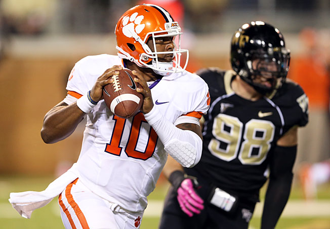 Quarterback Tajh Boyd will look to lead Clemson to an ACC title after opting to return to school in 2013.
