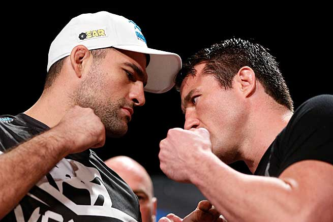 Former 205-pound champ Shogun Rua (left) will put his 21-7 record up against Chael Sonnen (27-13-1) in Boston.