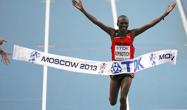 Uganda national Stephen Kipotrich won the men's marathon at the World Championships in Moscow.