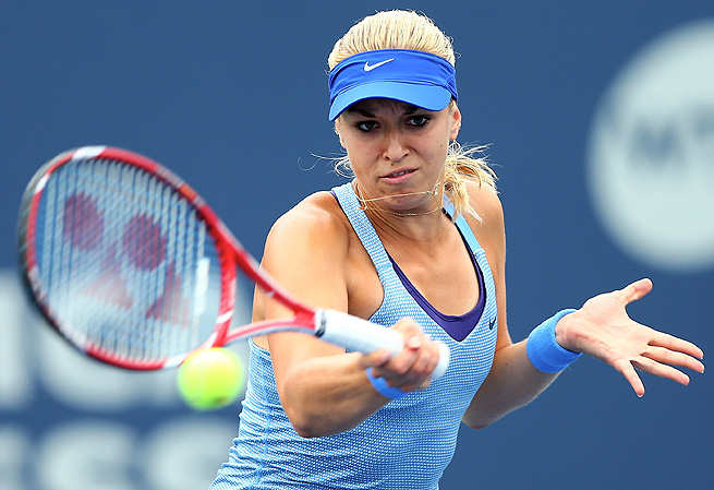 Sabine Lisicki bounced Kristina Mladenovic 7-5, 6-1 in the opening match of the New Haven Open.