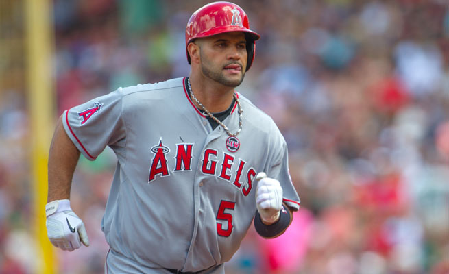 Albert Pujols was hitting .258 with 17 homers and 64 RBIs before a foot injury ended his campaign.
