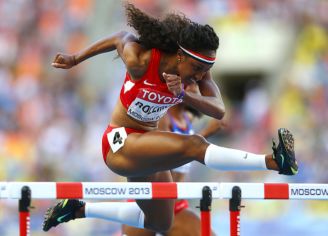 Brianna Rollins won the 100-meter hurdles in 12.44 at the track & field world championships.