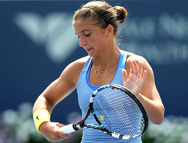 Sara Errani, ranked No. 5 in the world, lost to Ekaterina Makarova 7-5, 6-1 at the New Haven Open.
