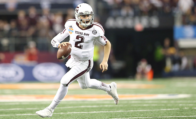 Johnny Manziel was selected to the preseason first-team All-SEC by the conference's media.