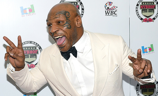 Ever the showman, Mike Tyson has found new enterprises as a boxing promoter and a stage performer.