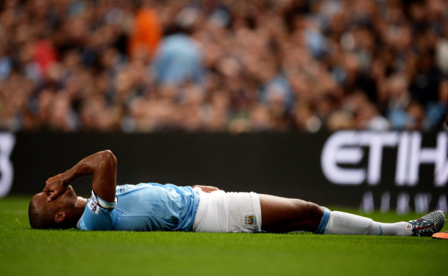 Vincent Kompany was injured during Manchester City's opening match against Newcastle.
