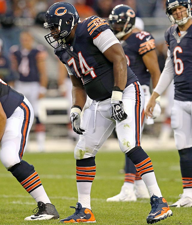 "The Bears ""stole"" Bushrod away from the Saints by signing him to a five-year, $35.965 million contract in March to help their historically horrid offensive line, and in that context, Bushrod will be an interstellar upgrade over J'Marcus Webb. At least, that's the narrative ... but the stats may tell a different story. In truth, Bushrod is an average pass protector who has been made to look better than he is by Drew Brees' pocket movement, and in 2012, he wasn't that much better than Webb. He allowed three sacks to Webb's five, but suffered more blown blocks in the passing game (21.5 to 18.0) and in the run game (7.0 to 2.5)."