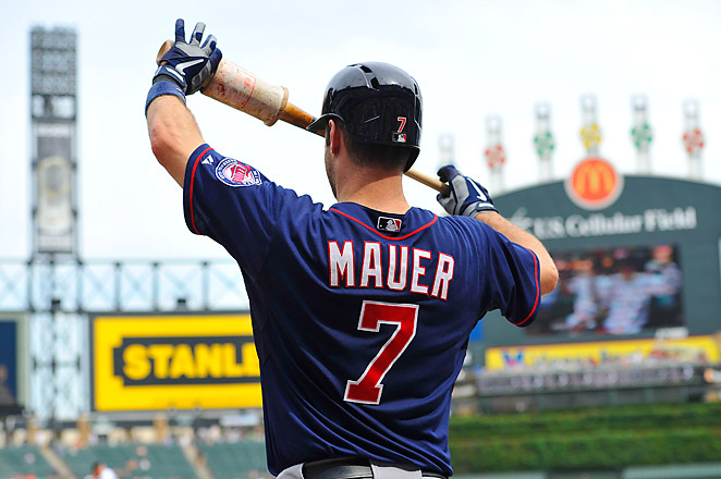 Mauer was placed on the concussion list after he became dizzy during his pregame routine.