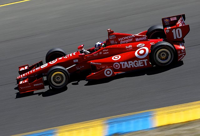 Franchitti turned a lap in 1 minute, 17.5271 seconds around the 2.385-mile road course.