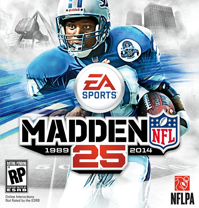 Adrian Peterson should be relieved that the fans voted Barry Sanders over him to be on the cover of the 25th edition of the Madden NFL video game.