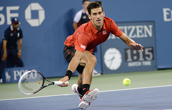 Novak Djokovic made only nine unforced errors in his opening round win at this year's U.S. Open.