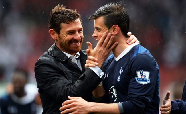 Andre Villas-Boas celebrates after Gareth Bale's game-winning goal on the final day of last season.