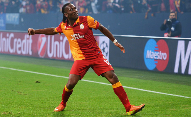 Didier Drogba joined Galatasaray in January, making it to the quarterfinals of the Champions League.