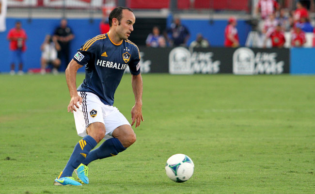 Landon Donovan joined the L.A. Galaxy from Bayer Leverkusen in 2005.