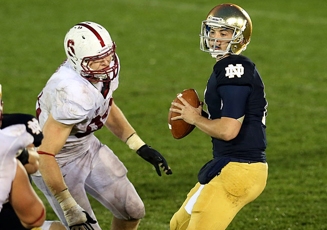 Linebacker Trent Murphy (left) and Stanford will look to avenge 2012's loss to Notre Dame on Nov. 30.
