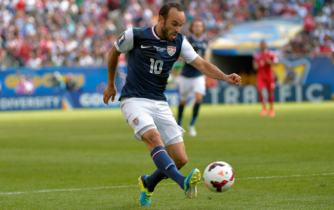 Landon Donovan scored five goals for the U.S. in the Gold Cup this summer.