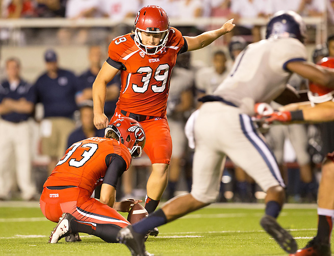 Utah kicker Andy Phillips kicked two clutch field goals to help complete the Utes' comeback.