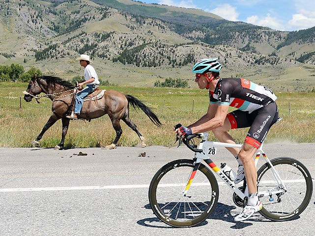 The magic and allure of the Old West was on display somewhere between Breckenridge and Steamboat Springs, CO while Jens Voigt gamely pedaled his wares in Stage Three.