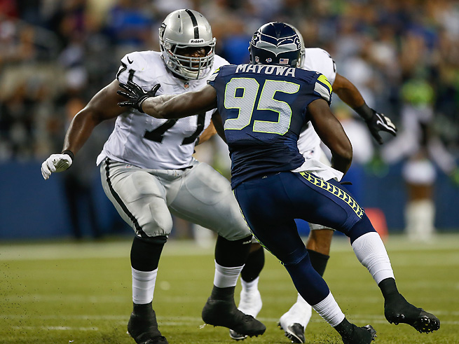 Oakland's Menelik Watson was a highly regarded offensive line prospect in the 2013 NFL draft.
