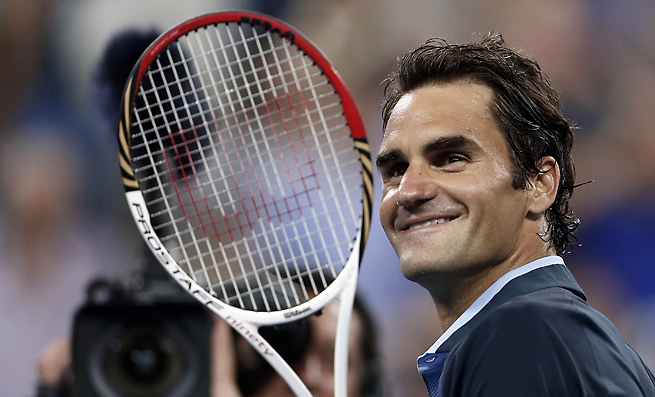 Roger Federer continued his dominant play at the U.S. Open with an easy win on Saturday.