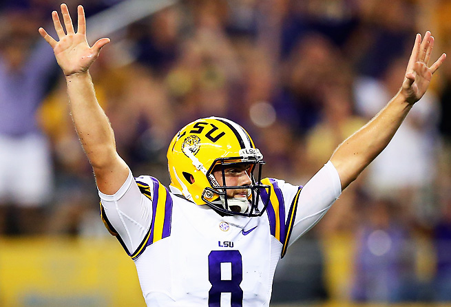 Zach Mettenberger showed off his arm strength with 225 yards passing and one touchdown.
