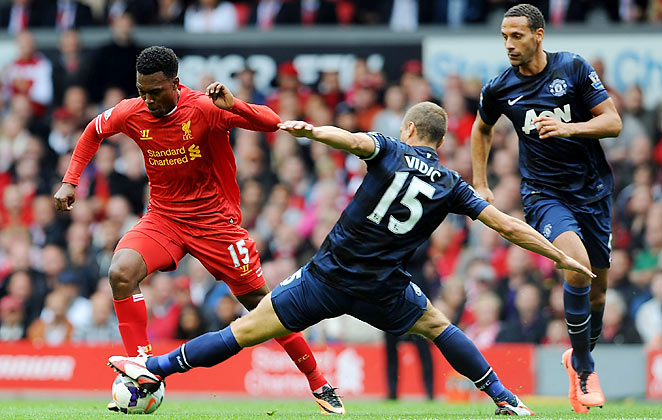 Daniel Sturridge scored his third goal in as many games in Liverpool's win over Manchester United.